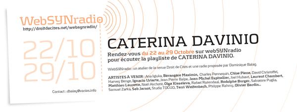 webSYNradio cdavinio-websynradio-600-fr Caterina Davinio Podcast Programme  Revue Droit de cites