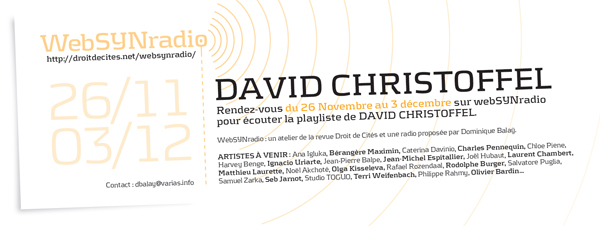 webSYNradio d.christoffel-websynradio-600-fr David Christoffel Podcast Programme  Revue Droit de cites