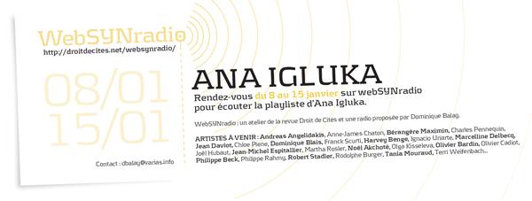 webSYNradio com-aigluka-websynradio-fr600 Ana Igluka 1/2 Podcast Programme  Revue Droit de cites