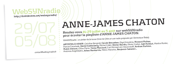 webSYNradio aj-chaton-websynradio600 Anne James Chaton Podcast Programme  Revue Droit de cites