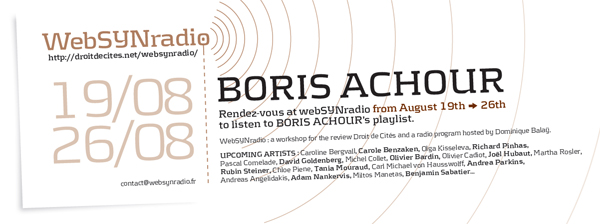 webSYNradio boris-achour-websynradio-english600 Boris Achour Podcast Programme  Revue Droit de cites