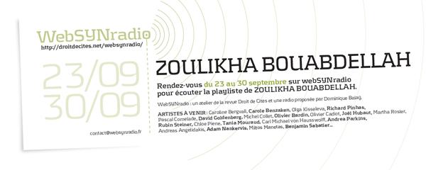 webSYNradio BOUABDELLAH-websynradio-fr-600 Zoulikha Bouabdellah Podcast Programme  Revue Droit de cites