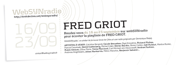 webSYNradio fred-griot-websynradio600 Fred Griot Podcast Programme  Revue Droit de cites