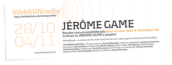 webSYNradio jgame-websynradio-eng600 Jérôme Game Podcast Programme  Revue Droit de cites