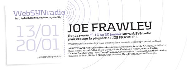 webSYNradio j-frawley-websynradio-fr600 Les masques et autres fantomes sonores de Joe Frawley Podcast Programme  Revue Droit de cites