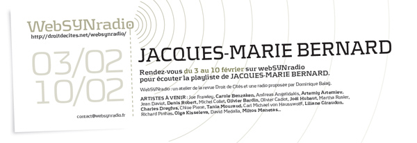 webSYNradio jm-bernard-websynradio-fr600 Jacques Marie Bernard au grand magasin Podcast Programme  Revue Droit de cites