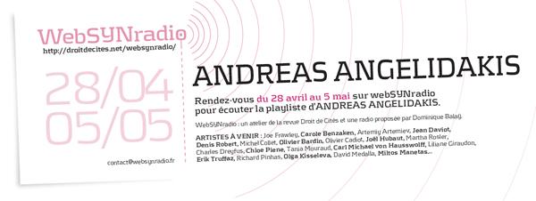 webSYNradio andreas-angelidakis-websynradio600 Andreas Angelidakis : sculpteur d'archives Podcast Programme  Revue Droit de cites
