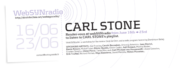 webSYNradio cstone-websynradio1-en600 SPECIAL JAPAN by Carl STONE Podcast Programme
