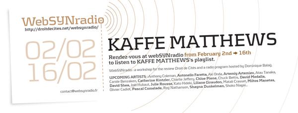 webSYNradio kaffe_matthewsr-websynradio-eng600 En direct des étoiles : inédits de Kaffe Matthews Podcast Programme  Revue Droit de cites