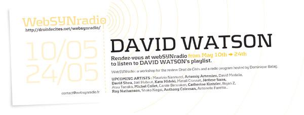 webSYNradio david_watson_websynradio-eng David Watson : A Theory of Relativity Podcast Programme